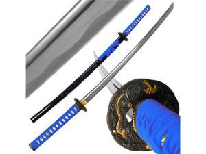 Katana w/ Blue Dragon Tsuba and Scabbard - 40 inch