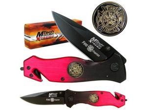 8 Inch Xtreme Fire Fighter Tactical Folding Pocket Knife