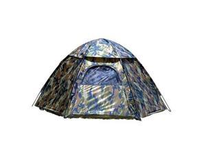 Texsport Camouflage Three-Person Hexagon Dome Tent