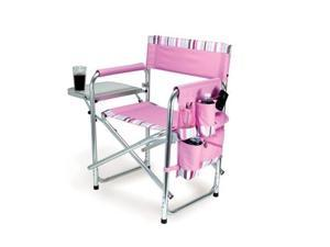 Picnic Time Portable Folding Sports/Camping Chair w/Pockets and Side Table,