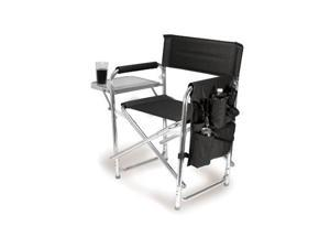 Picnic Time Black Portable Folding Sports/Camping Chair