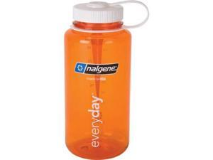 Nalgene Tritan Wide Mouth Water bottle, 1 Qt Orange with White Lid