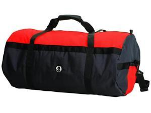 """Stansport Mesh Top Roll Bag - 14"""" x 30"""" - Red/Black"""