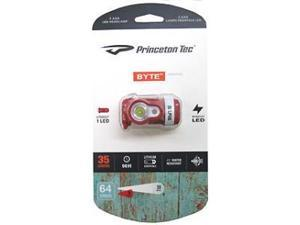 Princeton Tec PT01548 Headlamp Byte LED Headlamp Red & White LED Casing Black Ba