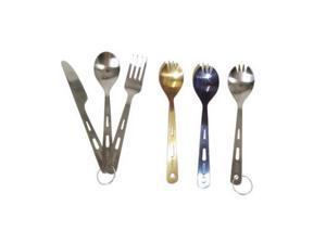 Vargo Titanium Spoon/Fork/Knife Set