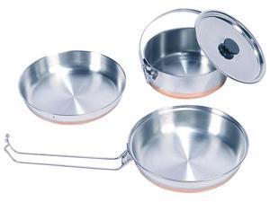 Stansport Stainless Steel Mess Kit -1 Pan,1 Saucepan,1 Plate
