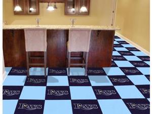 "Fanmats MLB - Tampa Bay Rays Carpet Tiles 18""x18"" tiles"