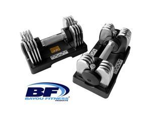 Bayou Fitness® Pair of 25 lb. Adjustable Dumbbells