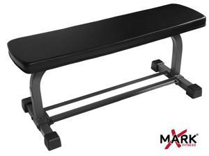 Flat Weight Bench with Dumbbell Rack