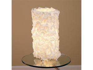 LumiSource Lace Table Lamp in Cream - LS-LACETABLE