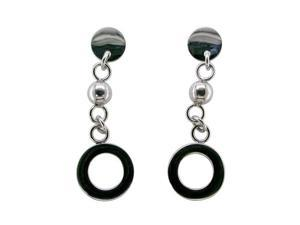 Metro Jewelry Stainless Steel Earrings with Circle