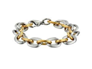 Metro Jewelry Stainless Steel Chain Bracelet with Gold Ion Plating