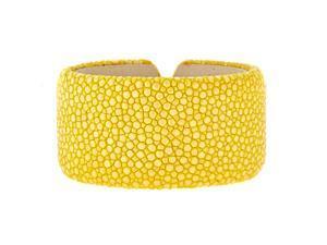 Metro Jewelry Stingray Yellow Wide Cuff Bangle