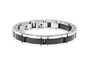 Metro Jewelry Stainless Steel Bracelet Ceramic and Lock Extender