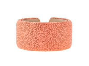 Metro Jewelry Stingray Peach Wide Cuff Bangle