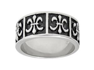 Metro Jewelry Stainless Steel Ring Antique Finish