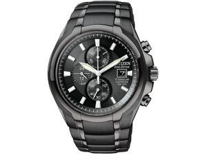Citizen CA0265-59E Black Titanium Eco-Drive Chronograph Black Dial Sapphire