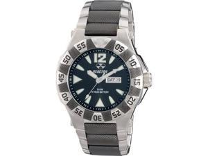 Reactor Men's Gamma Round Stainless Steel And Black Nitride Watch