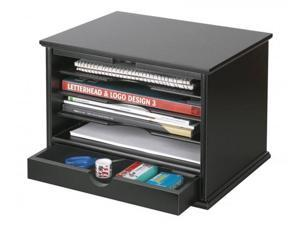 Victor Wood Desktop Organizer, Midnight Black Collection - by Victor Technology