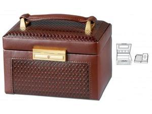 Brown Paris Weave Travel Jewelry Box - by Ragar