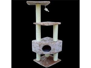 "52"" Casita Bungalow Cat Tree - Faux Fur - by Majestic Pet"