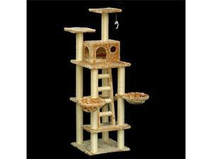 "72"" Casita Bungalow Cat Tree - Faux Fur - by Majestic Pet"