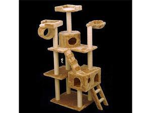 "73"" Casita Bungalow Cat Tree - Faux Fur - by Majestic Pet"