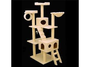"73"" Casita Bungalow Cat Tree - Faux Sheepskin - by Majestic Pet"