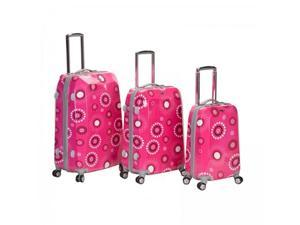 Three Piece Fashion Pink Pearl Polycarbonate/ABS Luggage Set - by Fox Luggage