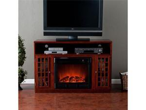 Narita Electric Fireplace Media Console - Mahogany - by Southern Enterprises