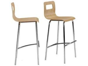 """Zuo Modern Set of 2 Escape Barstools - 24"""" Natural - by Zuo Modern"""
