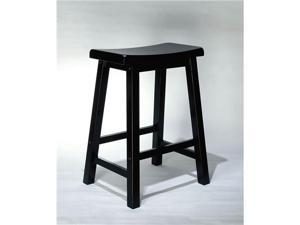 Antique Black Counter Stool 24 Inch Seat Height - by Powell