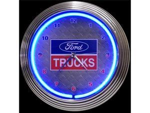 Ford Trucks Neon Wall Clock - by Neonetics