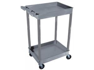 Two Level Serving Cart - Gray
