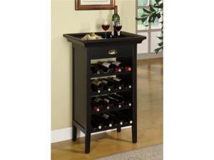 Merlot Rub Through Wine Cabinet - by Powell