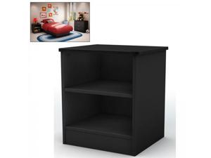 Libra Black Night Stand - by South Shore