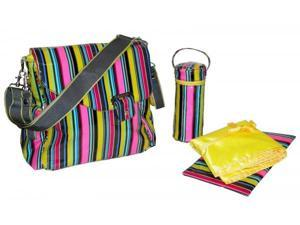 Petals Stripe Ozz Coated Diaper Bag - by Kalencom