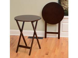 Round Folding Bistro Tray Table - Set of 2 - by Lion Sports