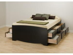 Tall Double Platform Storage Bed with 12 drawers - by Prepac