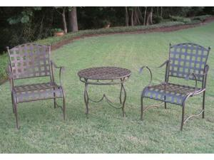 Santa Fe Iron Bistro Set of Three - by International Caravan