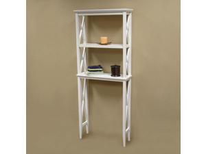 RiverRidge White X-Frame Bathroom Etagere - by SOURCING SOLUTIONS INC.