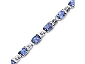 7.00 ct Oval Shape Alexandrite Bracelet in Sterling Silver