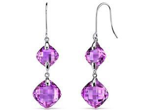 14 kt White Gold 18.00 Carats Pink Sapphire Earrings