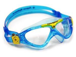 Aqua Sphere Vista Junior Swim Mask, Bluewater & Yellow, Clear Great for Swimming