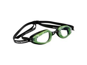 Aqua Sphere K180+ Clear Lens Swim Goggles - Green & Black