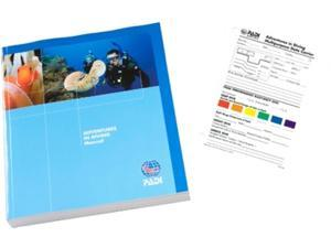 PADI Adventures in Diving Book and Slate Training Materials for Scuba Divers