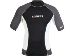 Mares Rash Guard Top - Mens Short Sleeve-L for Scuba , Snorkeling, and Water Sports