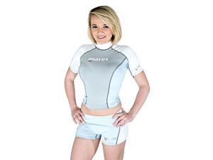 Mares Rash Guard Top-Womens Short Sleeve-Size 6 for Scuba Diving and Snorkeling