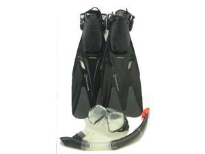 National Geographic Marlin 50 Mask Snorkel Fin Set - Black Small