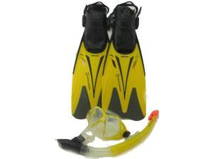 National Geographic Marlin 50 Mask Snorkel Fin Set - Yellow Large